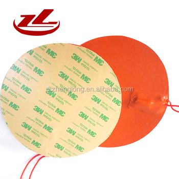 12V Flexible Silicone Rubber Heater With J Type Thermocouple