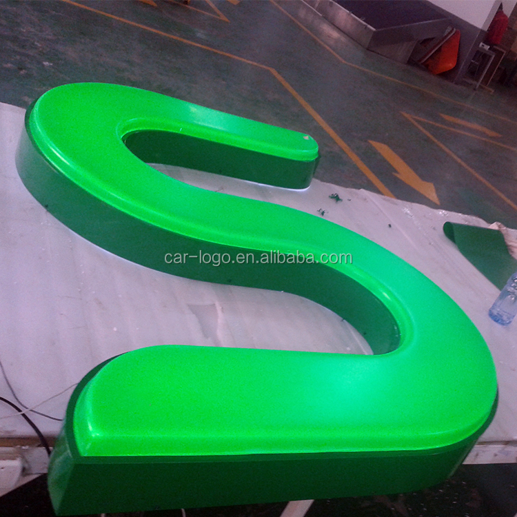 rotating backlit office letter sign light font led house number sign
