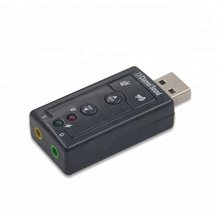 wholesale external virtual 7.1 channel 3d usb sound card usb driver for pc