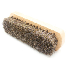 Shoe Shine Brush Polish 100% Horse Hair Wood Handle brush