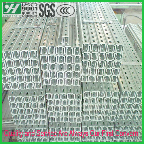 Pregalvanized Supporting Slotted Strut Channel