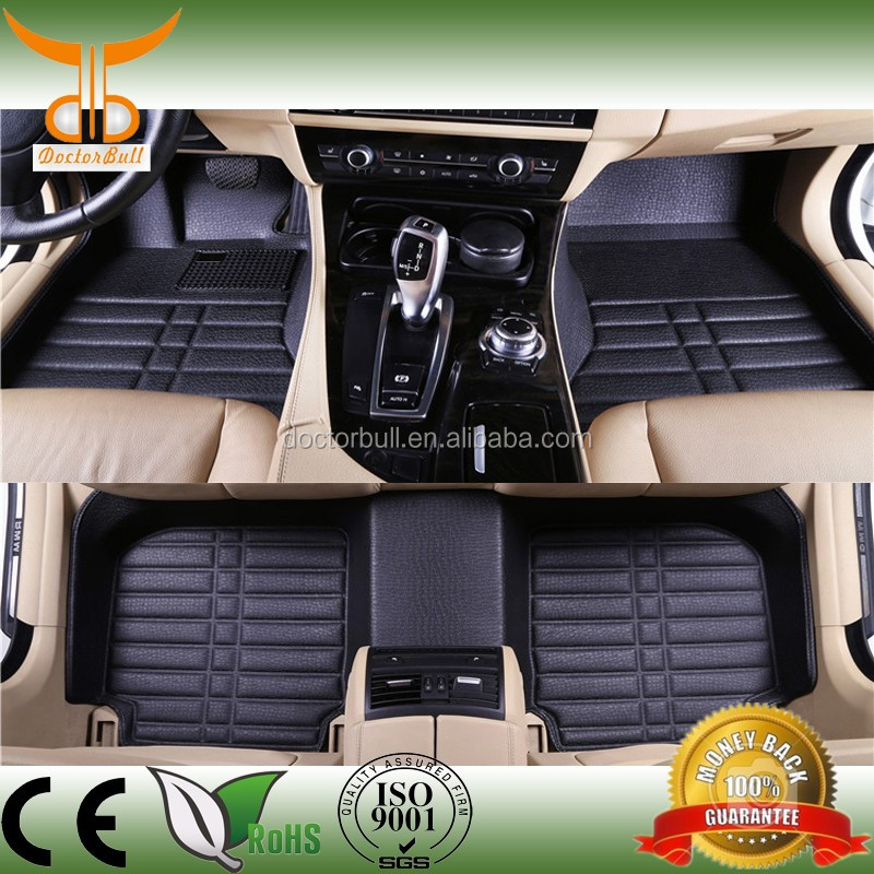 2016 Hot sale 5D leather auto car floor mat for Mazda 3