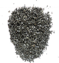 wholesale black crushed stone/black landscaping gravel white rainbow stone