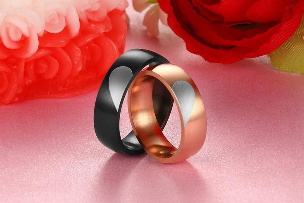 2016 new products listed, 6 mm stainless steel heart-shaped ring jewelry lovers, factory direct sale YSS693