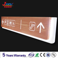 Subway hanging directioanl signage,wood veins luminous directional signage