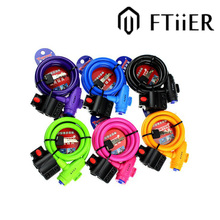 FTIIER Bicycle lock bike cable road bike bike mountain anti - theft chain Cable lock wire lock