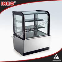 202L CounterTop Curve Glass Refrigerated Cake Display Cases/Bench Refrigerator/Cake Display Cabinet Refrigerate