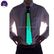 Top selling cool el sound activated ties with led light/neon panel tie