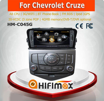 Hifimax touch screen car dvd for chevrolet cruze touch screen dvd player/chevrolet cruze car dvd systems