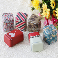 Mini Square Packaging Tin Can For Medicine Pills/Mints/Chocolate/Tin wedding Cookie Jar Square Wedding food beverage