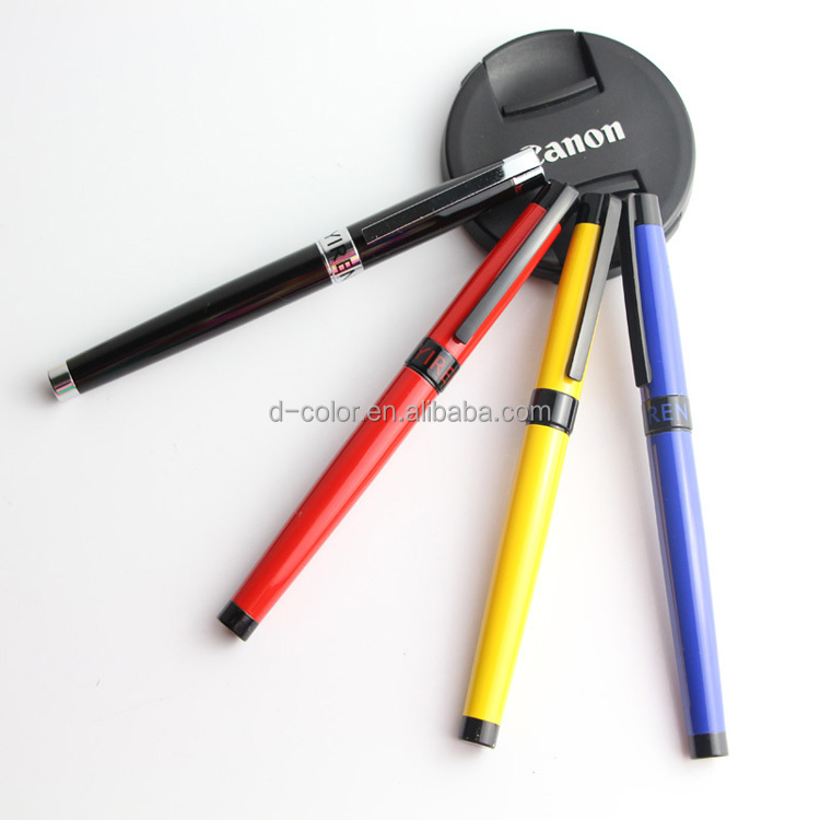 Free sample customize gel pen coloful metal gel pen for office
