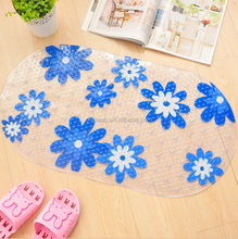 High quality anti-slip eco friendly semi-circle bath mat for shower