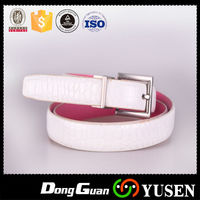 Factory Wholesale Crocodile White Cheap Leather Belt