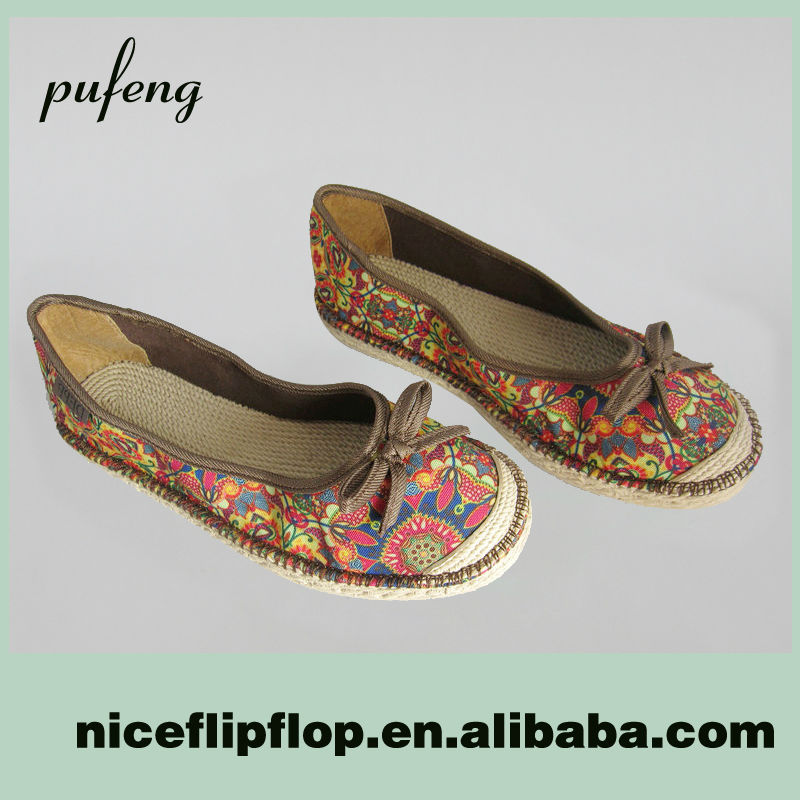 2014 canvas flat EVA girl's espadrille for clourful shoes