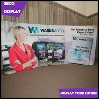 Free standing tension fabric display backdrop for trade show