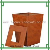 2013 fashion handmade crocodile leather waste bin