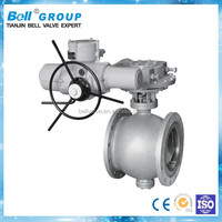 12 Inch ASTM A216 WCB Electric Double Eccentric Ball Valve for Oil and Gas
