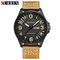 2018 Curren Watches Men Brand Luxury Military Quartz Watch Male Casual Sport Waterproof Clock Leather Strap Mens Wrist Watches