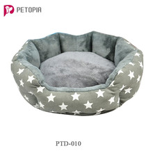 Wholesale Washable Canvas Plush Dog Cat Bed Houses