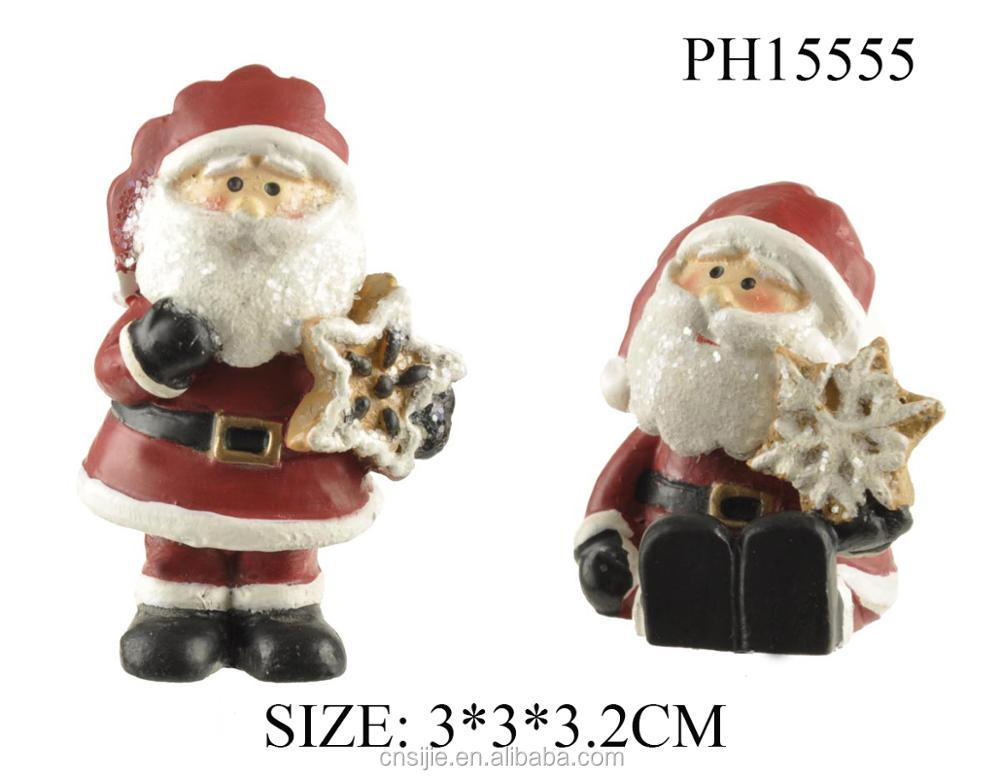 2018 New design custom shape resin xmas hat ornament for Christmas gifts