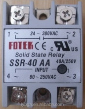 Single-phase ac control communication SSR-40AA 220V fotek solid state relay