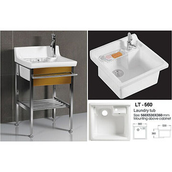 Hot Sale Cheap Ceramic Laundry Tub For Washing Clothes LT -560