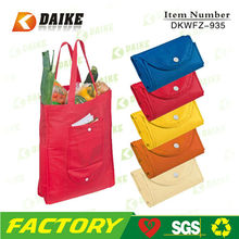 Promotion Non Woven Folding Tote Bag Into Pouch DKWFZ-935