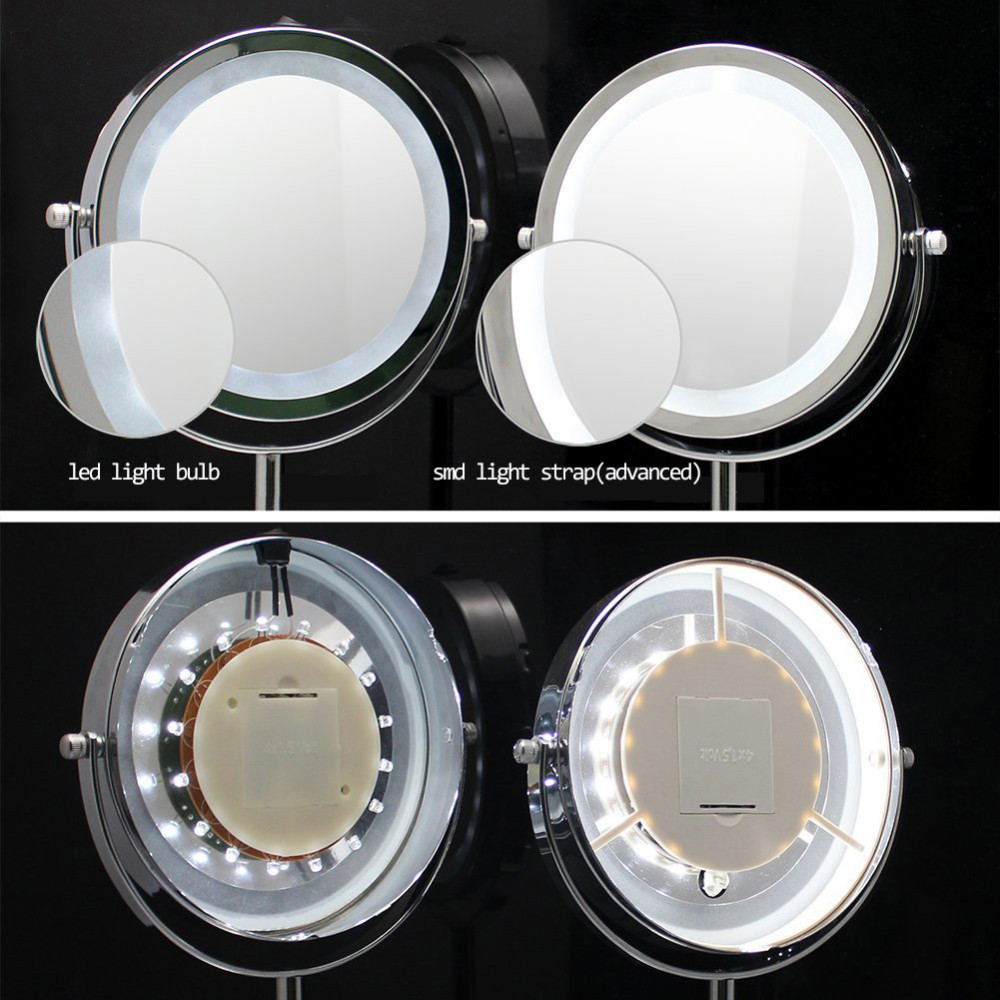 New led light touch sensor switch desketop makeup mirror