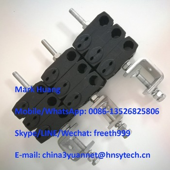 5mm+5mm & 19mm Triple type feeder clamp / optical fiber feeder clamp / fiber cable feeder clamp / fiber clamp