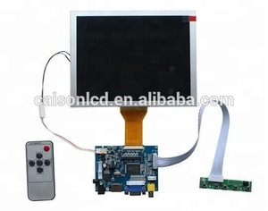 HDMI+VGA +AV TFT LCD controller board +OSD keypad with cable +Remote control with receive+EJ080NA-05A with 800*600
