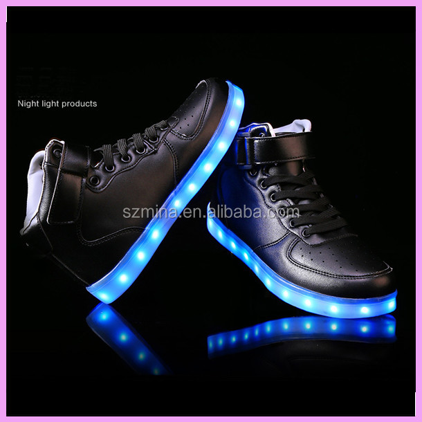 2016 Distributor Wanted Les shoes,Led high top shoes,Led light up shoes for men and women