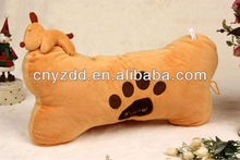 soft and stuffed bone shape pillow cushion/plush pet toys