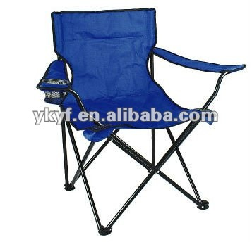 Folding camping chair with arm rest