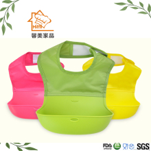 HIMI Healthy Silicone baby Bibs for Feeding, Soft Waterproof Silicone Baby Bibs With Food Pocket