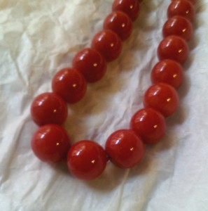 red coral necklaces 11,5 mm made in italy pendant handmade italian jewelry 1 kg