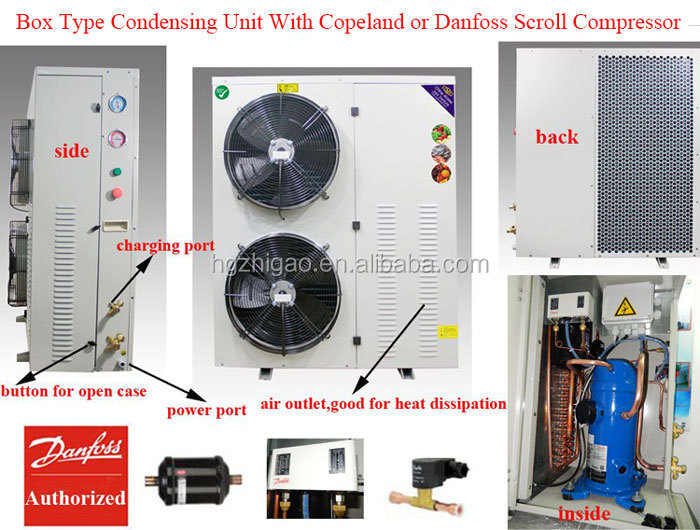 4HP Box Type Copeland Refrigeration Condensing Unit for Cold Room Storage