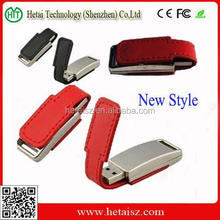 Magnet Leather USB Flash Drive / Promotion Leather USB Stick