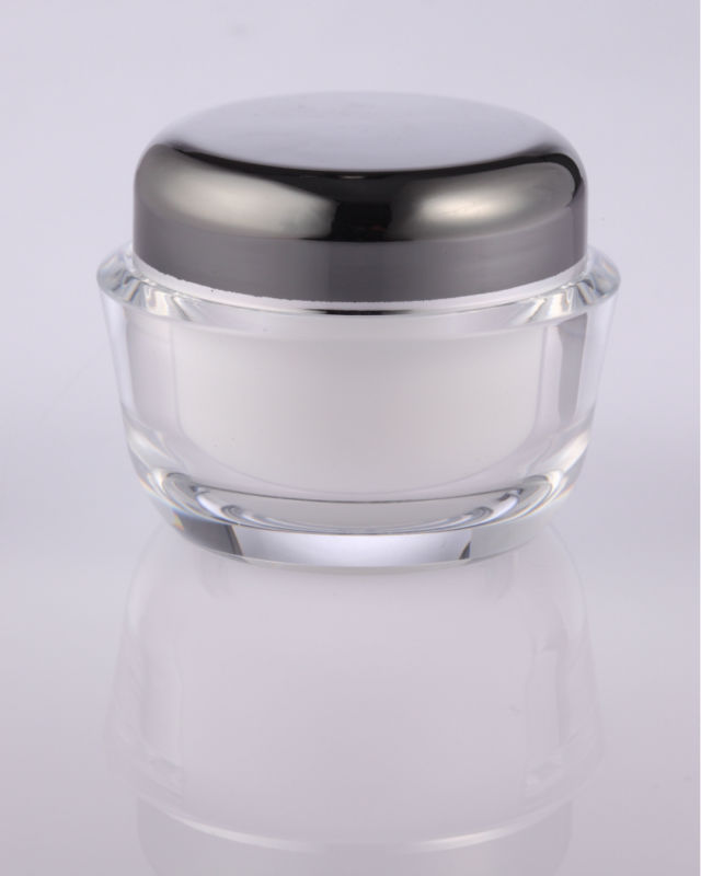 round acrylic jars clear packaging