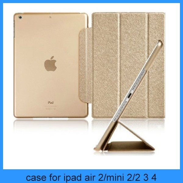 For ipad air 2 case Folio Luxury Slim Smart Wake Leather Cover for iPad air 2 3 4 5 mini1 2(PT-IP6201)