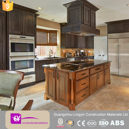 luxury american solid wood kitchen cabinet islands custom for sale