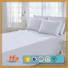 Factory wholesale stock lot plain white 100% cotton bed sheet on sale