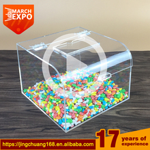 mini clear plexiglass bulk food display box acrylic candy bins wholesale