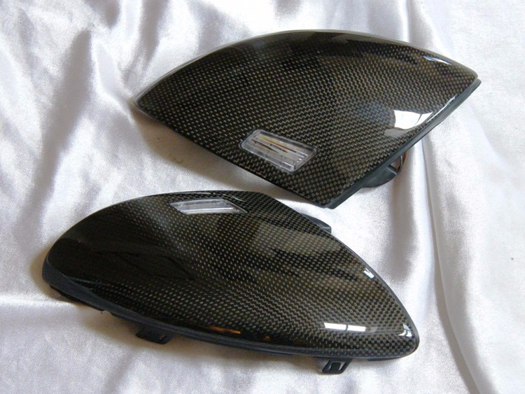Professional factory! 100% full Real Carbon Fiber rear view Side Car Mirror Cover Replacement
