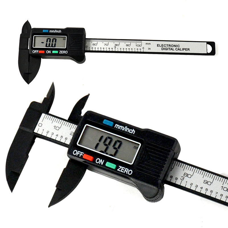 Carbon Fiber Vernier Gauge 100mm 4inch LCD Digital Electronic Caliper
