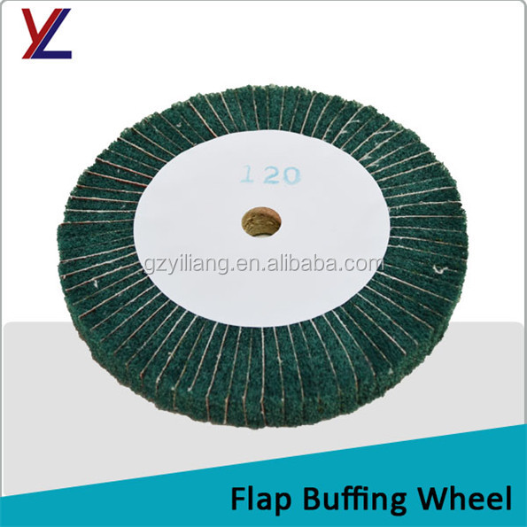 non woven fiber polish flap buff for stainless steel buffing