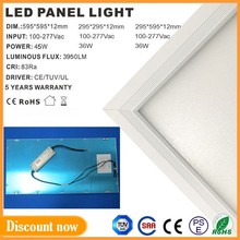 Uniformity emission 2' x 4' panel light 36W led no glare with Ra>80