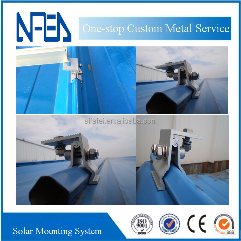 Hot Metal Roof Standing Seam Roof Solar panel Roof Mount Kit for solar brackets