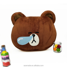 High Quality Line Bear Stuffed Plush Pillow/ Sleeping Cushion Wholesale