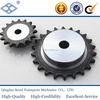 ISO DIN standard pitch 25.4mm C2042 24T high frequency hardening simplex roller chain sprocket finished bore keyway