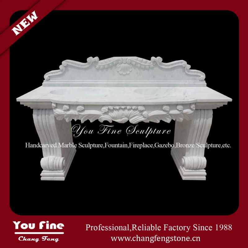 Hand Carved Natural Stone Wash Pedestal Basin